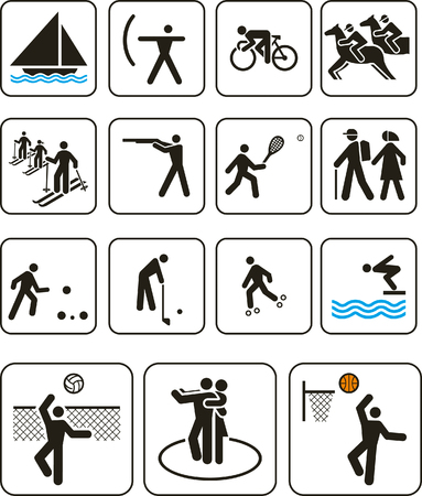Vector illustration: sports sports competition games signs