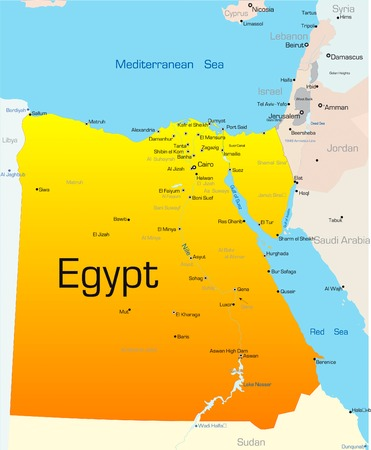 Abstract vector color map of Egypt country Vector