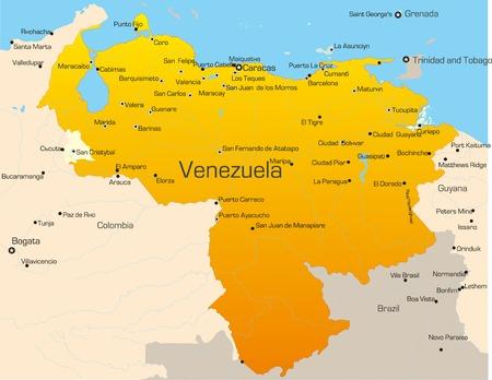 Abstract vector color map of Venezuela country Vector