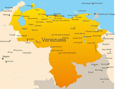 Abstract vector color map of Venezuela country Vector