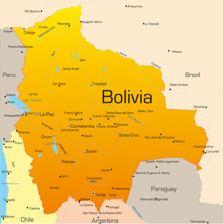 Abstract vector color map of Bolivia country Vector