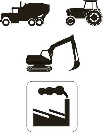 industrial machine: Vector illustratios: building theme