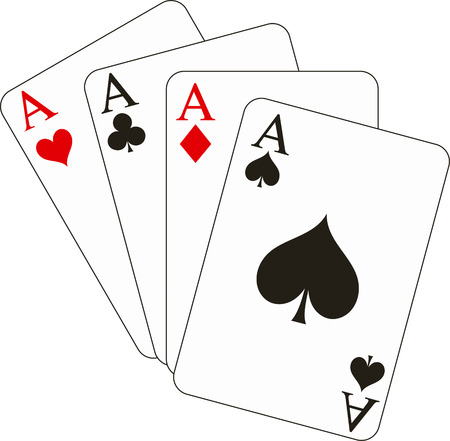 card suits: Vector illustration of four aces