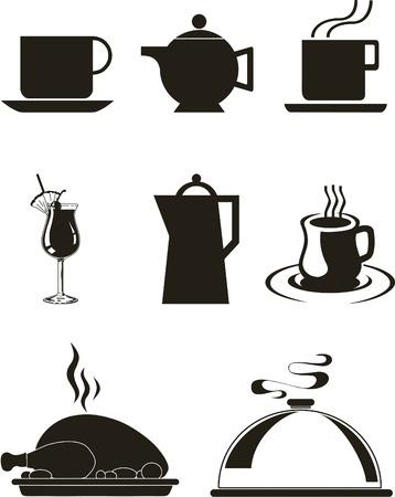 group of objects: Vector illustratie met de set van keuken waren