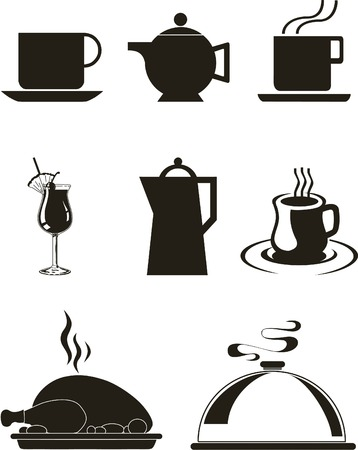 wares: Vector illustration with set of kitchen wares Illustration