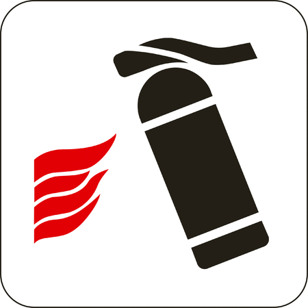 trigger: Vector illustration: fire extinguisher sign Illustration