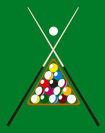 Abstract vector billiard pool illustration Vector