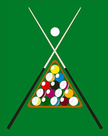 Abstract vector billiard pool illustration