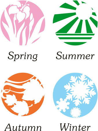 Abstract vector illustrations of seasons Vector