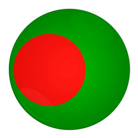 bangladesh: Abstract illustration: button with flag from Bangladesh country