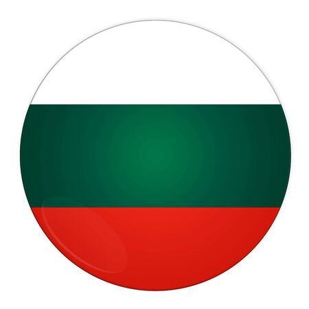 Abstract illustration: button with flag from Bulgaria country illustration