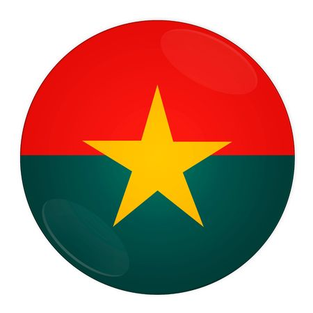 Abstract illustration: button with flag from Burkina Faso country illustration