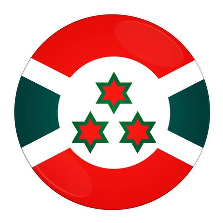 Abstract illustration: button with flag from Burundi country illustration