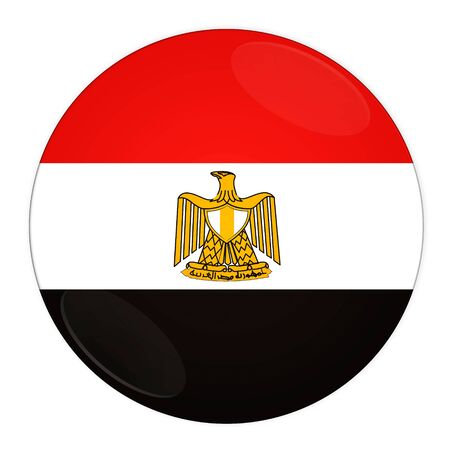 Abstract illustration: button with flag from Egypt country illustration