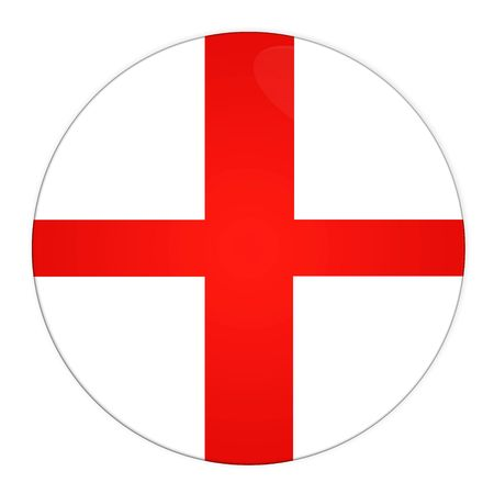 Abstract illustration: button with flag from England country illustration