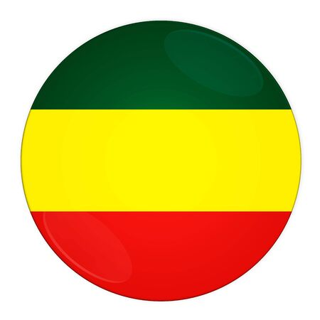 ethiopia abstract: Abstract illustration: button with flag from Ethiopia country Stock Photo