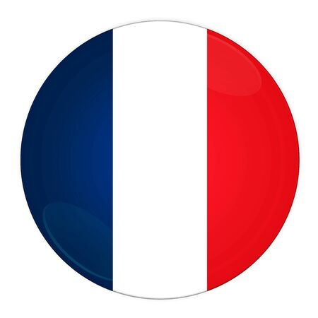 Abstract illustration: button with flag from France country illustration