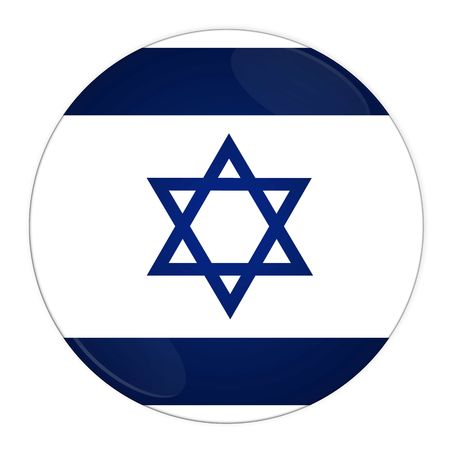 Abstract illustration: button with flag from Israel country illustration