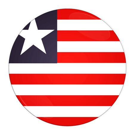 Abstract illustration: button with flag from Liberia country  illustration