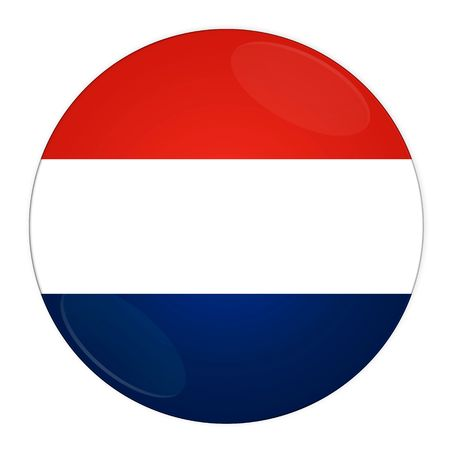 Abstract illustration: button with flag from Luxembourg country illustration
