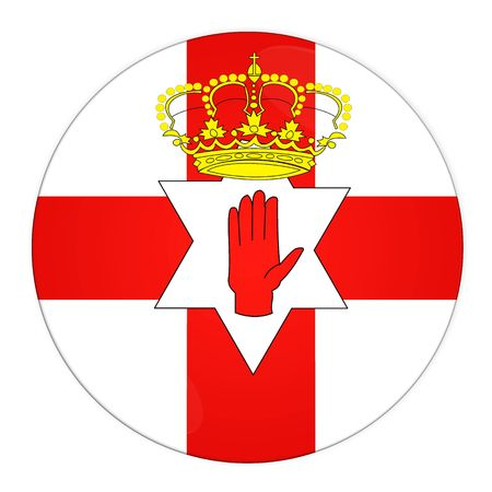 nothern ireland: Abstract illustration: button with flag from Nothern Ireland country Stock Photo