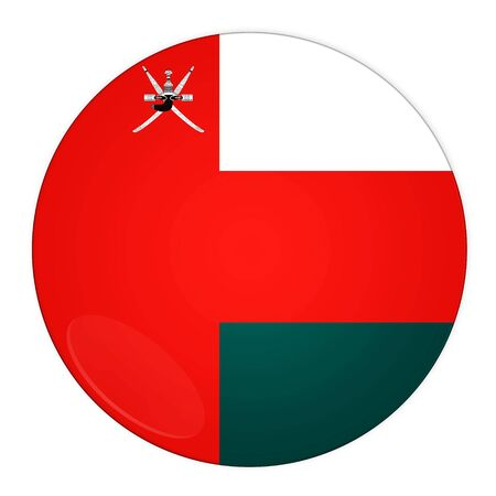 oman background: Abstract illustration: button with flag from Oman country Stock Photo