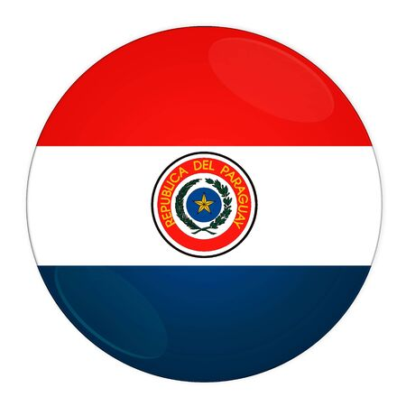 Abstract illustration: button with flag from Paraguay country illustration