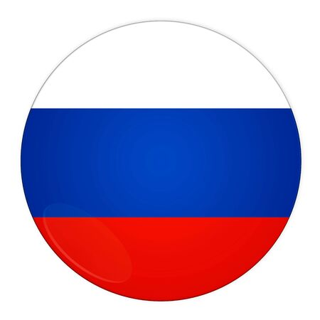 Abstract illustration: button with flag from Russia country illustration