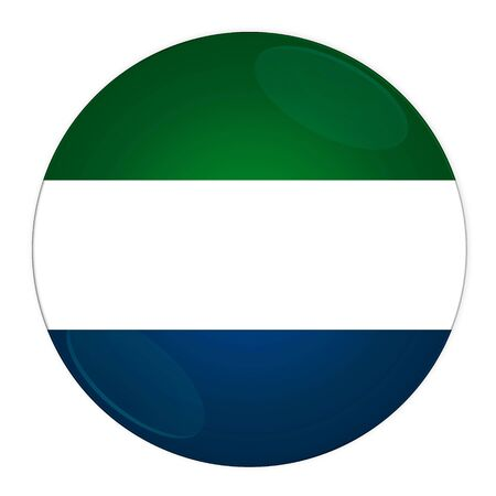 Abstract illustration: button with flag from Sierra Leone country illustration