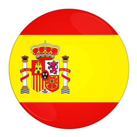 Abstract illustration: button with flag from Spain country illustration