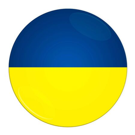 Abstract illustration: button with flag from Ukraine country illustration