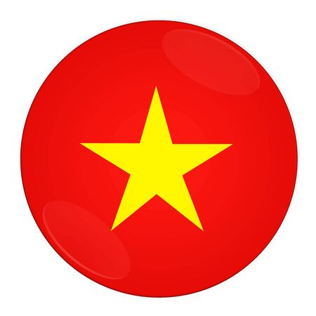 Abstract illustration: button with flag from Vietnam country illustration