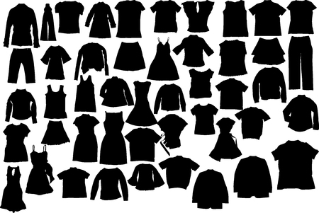 Abstract vector clothes silhuettes illustration Vector