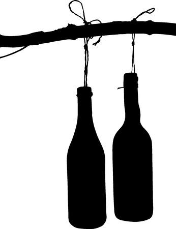 Illustrazione Vettoriale: bottiglia Vettoriali