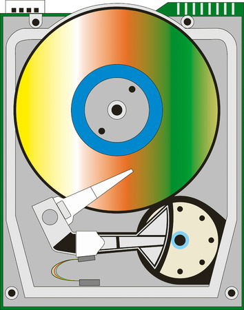 Abstract vector illustration of hard drive Vector