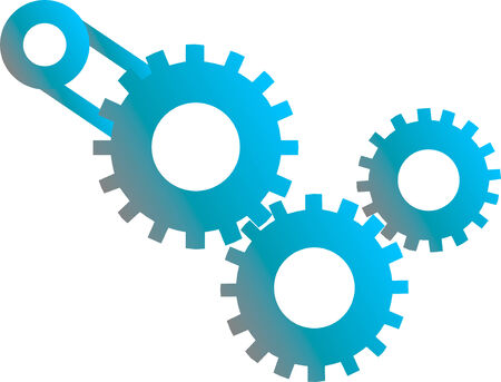 Abstract vector illustration of gears machinery Vector