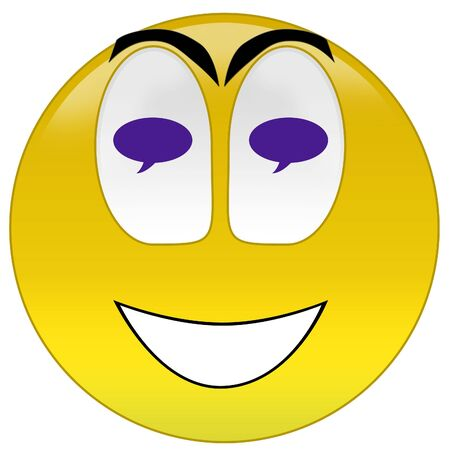 3d rendering happy thinking or dreaming smiley Stock Photo - 3700901