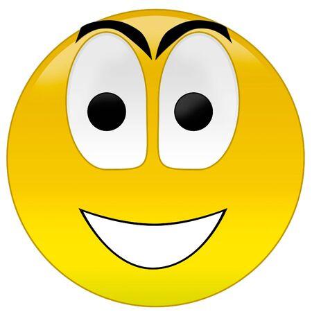 3d rendering happy smiley Stock Photo - 3700903