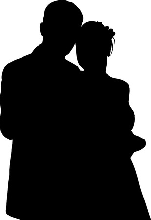 Illustration of couple people vector Vector