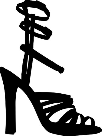 Vector Illustration of fashion women shoes vector Vector
