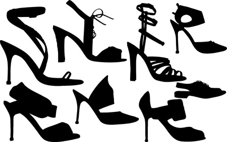 Vector Illustration of fashion women shoes vector Illustration