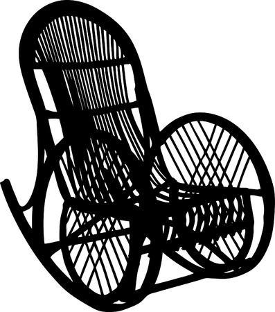 Vector illustration of armchair-rocking chair Vector