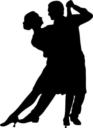 Ilustración vectorial de una pareja de baile Foto de archivo - 3799829