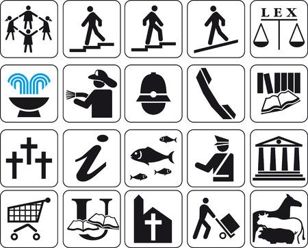 siluetas: Vector illustrations of signs