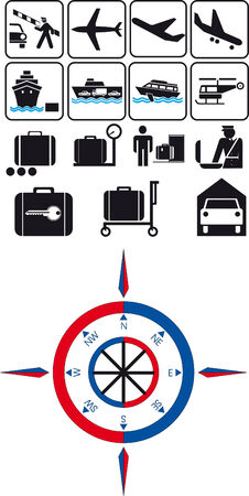 Vector illustration of travel icons Vector