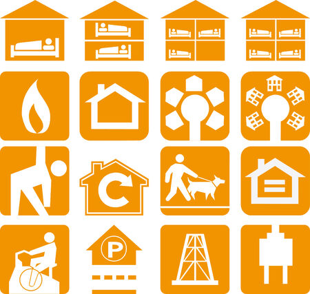 Vector illustration of orange sign Vector