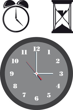 Vector illustration of clock Vector