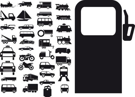 Vector illustration of transport sign Vector