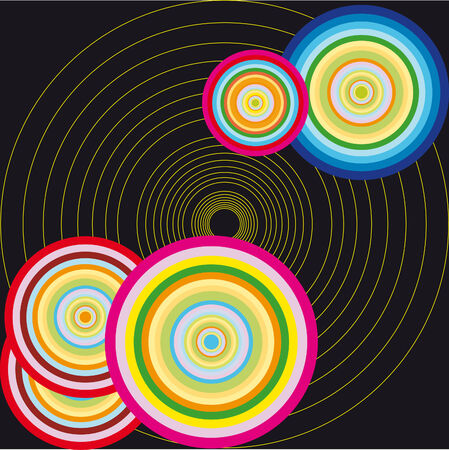 Abstract color vector circle illustration Vector