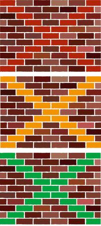 Vector abstract brick wall as traffic light Vector